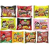 (10 Flavors) Samyang Spicy Chicken Hot Ramen Noodle Buldak Variety Pack - 10 Different Flavors of Samyang Hot Chicken Ramen