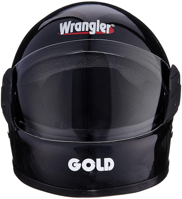 5ffa2f61 Wrangler Gold Full Face Helmet (Black, L): Amazon.in: Car & Motorbike