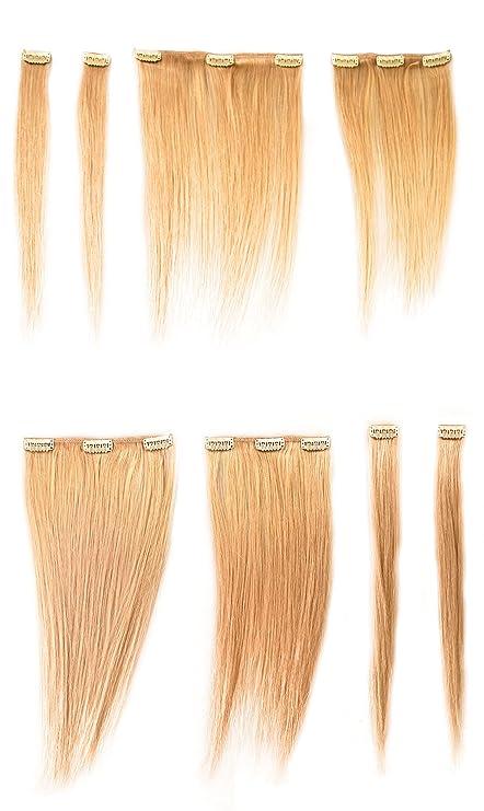 Donna Bella Hair Full Head Human Clip In Hair Extensions 16 Inch