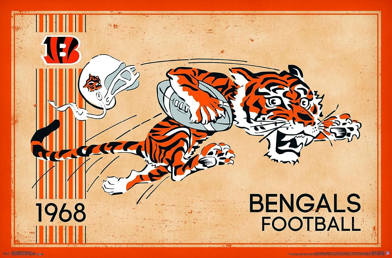 Amazon.com: Trends International Cincinnati Bengals Retro Logo ...