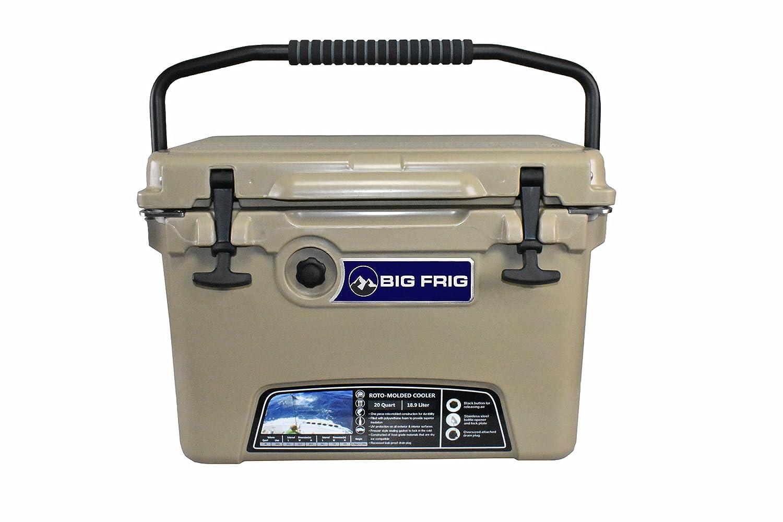 Big Frig Sand Denali Cooler (20 Quart) Bundle includes Cutting Board/Divider, Basket, 5 Year Limited Warranty