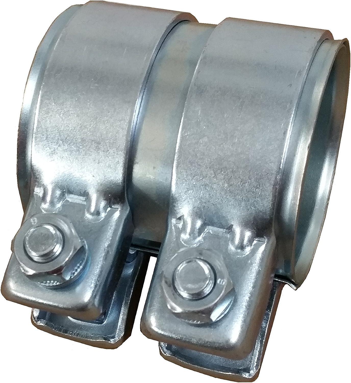 Rohrschelle Auspuff Verbinder für Ø56mm-Rohre 125mm lang verzinkt