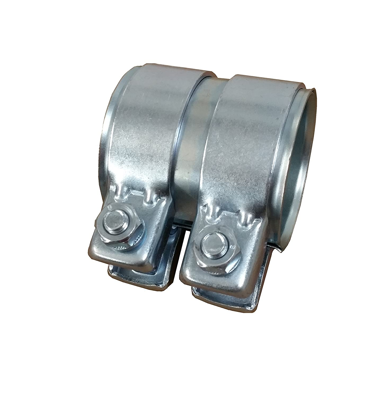 Tubo di scarico connettore Ø 65mm x80mm zincato Raccordo universale + 2X fascetta scarico 69, 5 Alutec