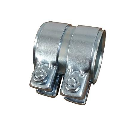 Tubo de escape del conector Diámetro 65 mm x80 mm galvanizado universal conector + 2 x