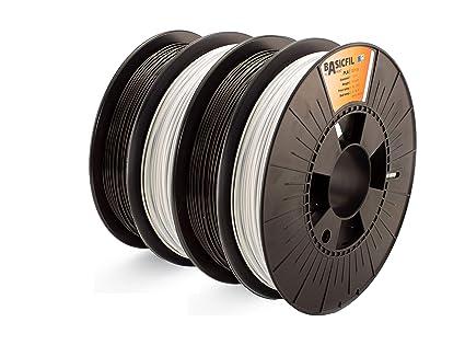 BASICFIL combipack PLA-PET 1.75mm, 4 x 500 gr filamento de ...
