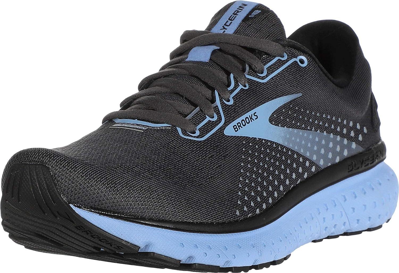 Brooks Glycerin 18 D Wide Grey Blue Women Running Shoes Sneakers 120317 1D