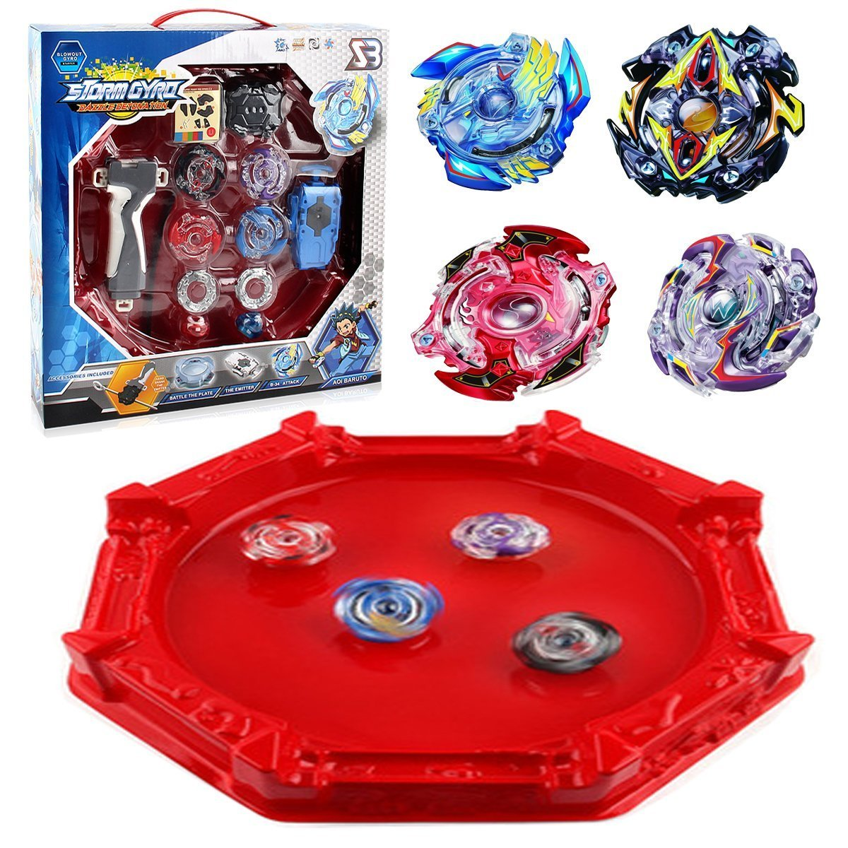IOTC Bey Blade Burst Evolution Star Storm Battle Set and Arena Included, Multi