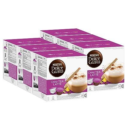 Nescafé Dolce Gusto Chai Tea Latte, Paquete de 6, 6 x 16 Cápsulas (