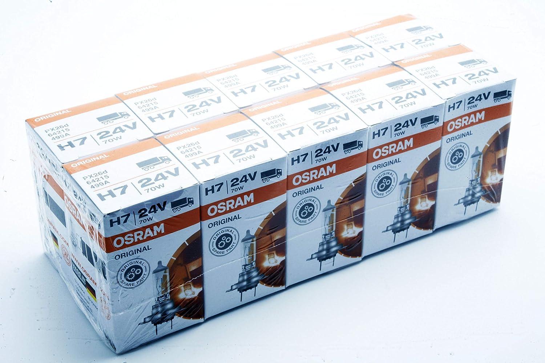10x H7 64215 OSRAM ORIGINAL LINE 70W 24V BOMBILLAS HALOGENAS FAROS CAMIONES BUS TRUCKS LKW