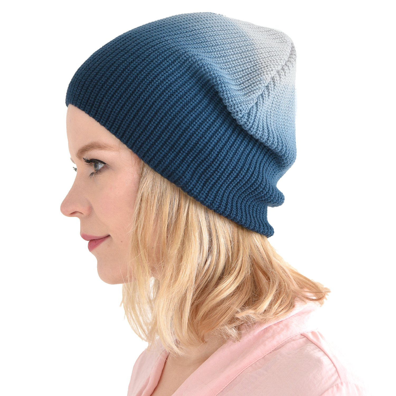 CHARM Mens Winter Cotton Beanie - Womens Slouch Hat Dip Dye Chemo Cap Casualbox 4589777965027