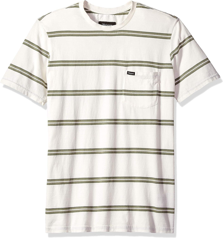 Brixton Mens Hilt Standard Fit Short Sleeve Knit Shirt