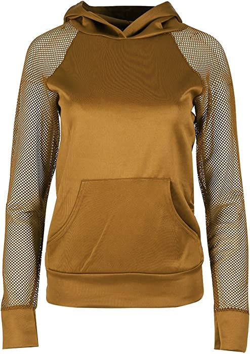 Oops OUTLET Damas COMPLETO BUCEO FISHER RED MANGA Capuchas Mujer Sudadera Draw Cuerdas Sudadera Con Capucha - Mostaza, X-Large (UK 14)