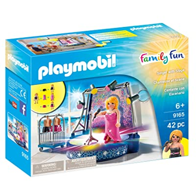 PLAYMOBIL Singer with Stage: Toys & Games