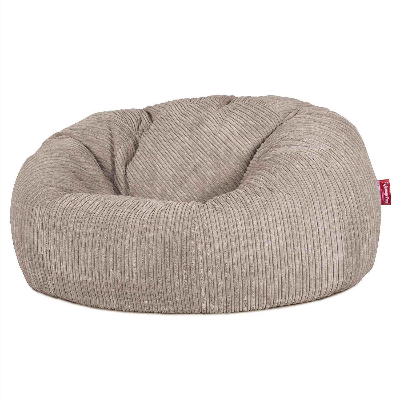 Gro/ß Fu/ßhocker Pouf Cord Creme Lounge Pug/®