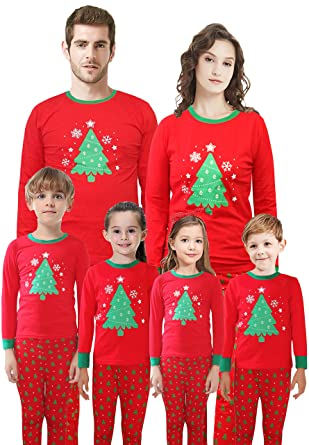 7ed1c1d30468 Family Matching Christmas Pajamas for Girls and Boys Cotton Kids Sleepwear  Size 2T