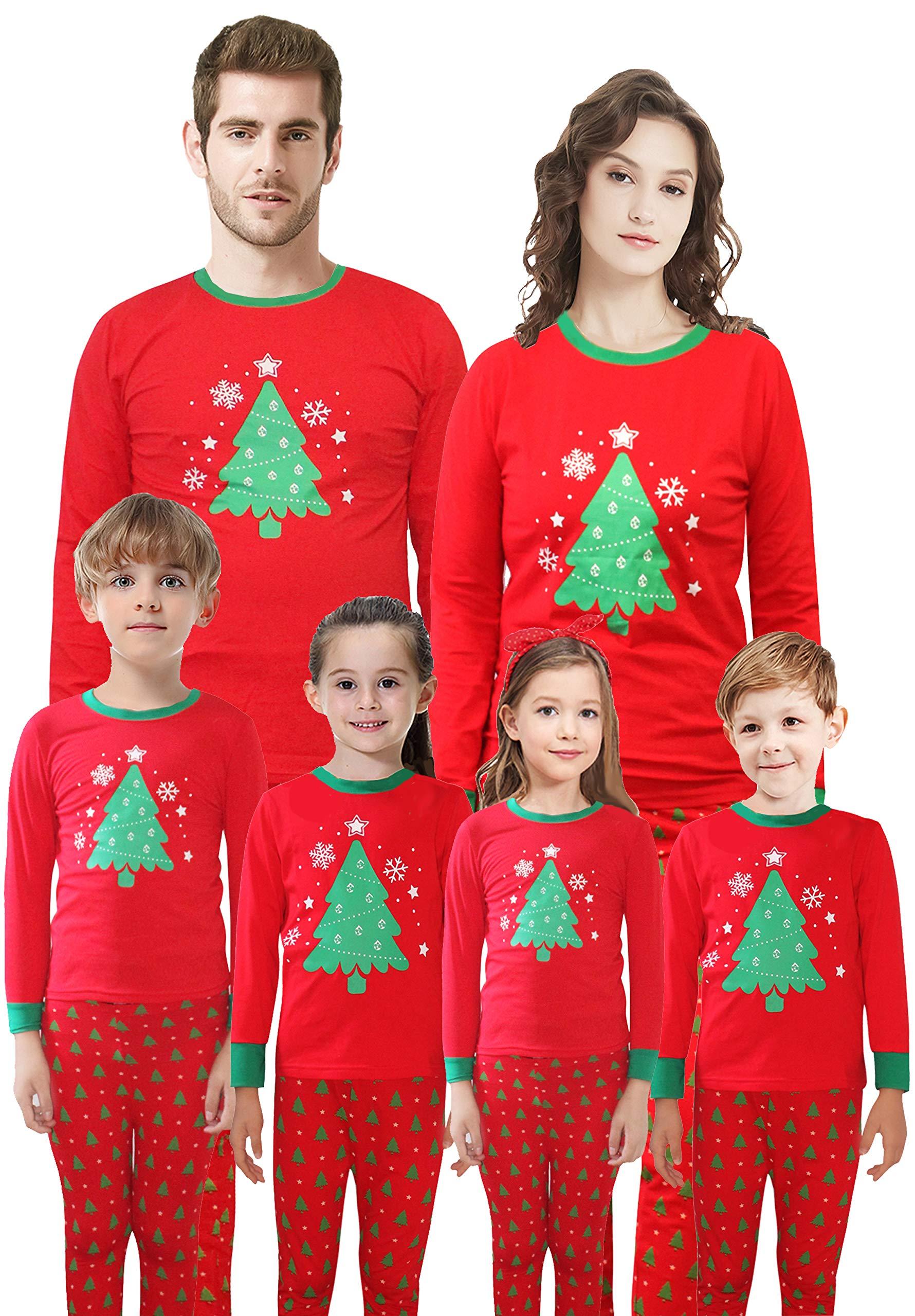 Family Matching Christmas Pajamas Girls Boys Cotton Kids Sleepwear ...