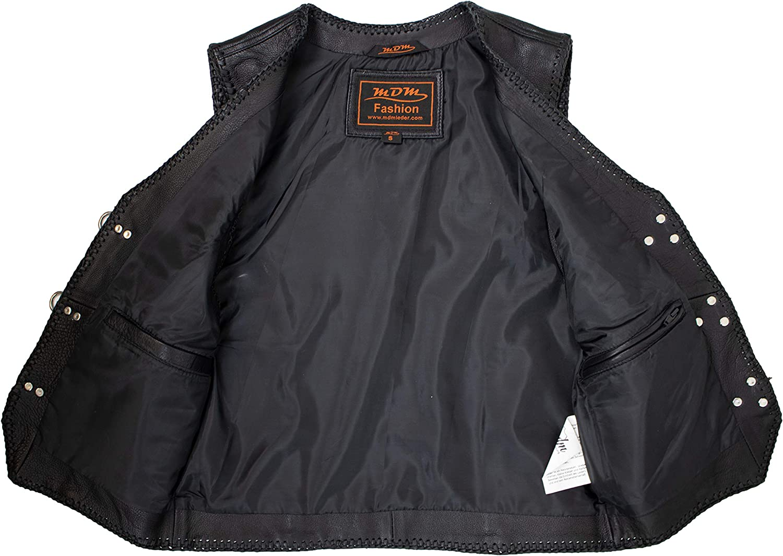 S MDM Lederweste mit 2 Aufgesetzten Taschen