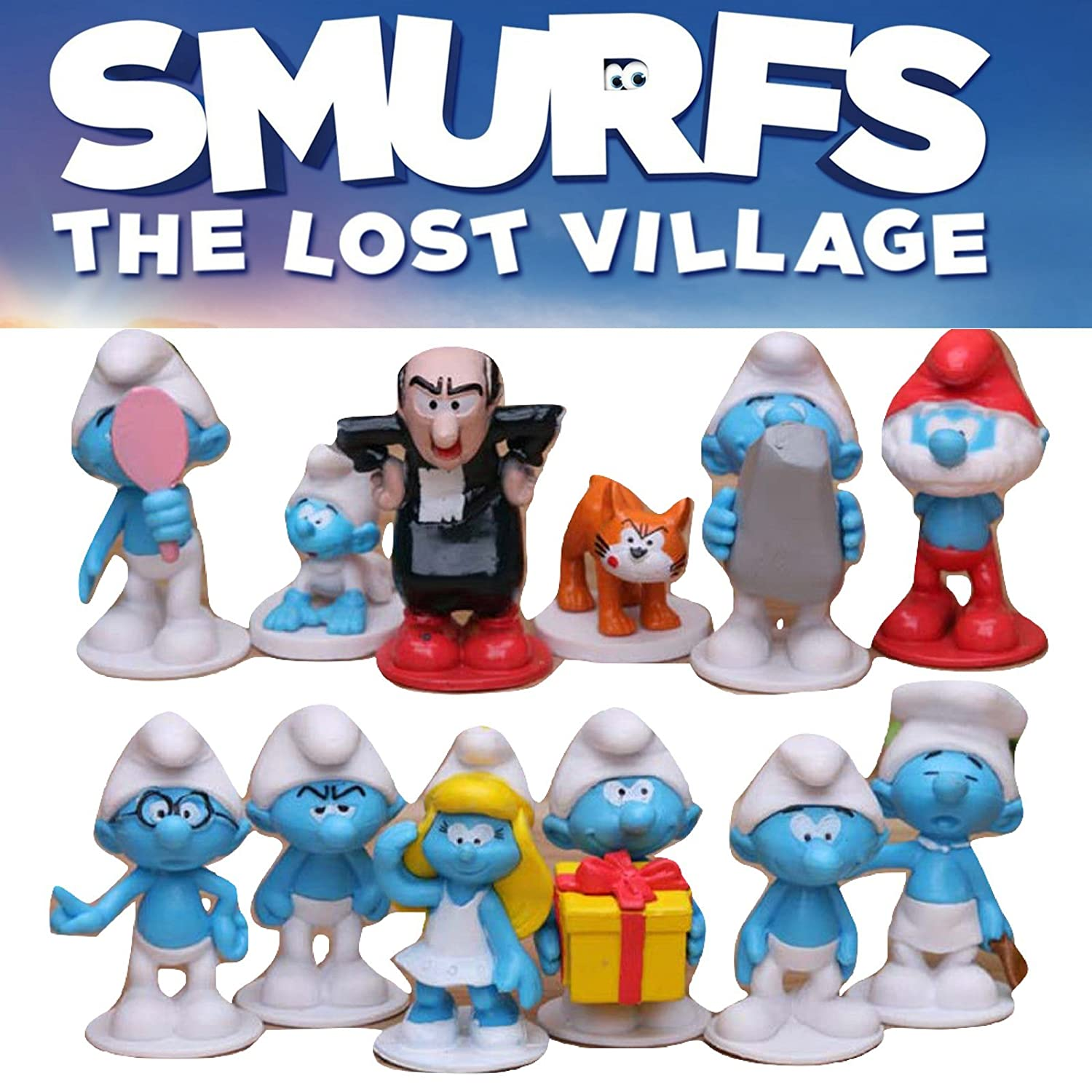 Smurfs The Lost Village Cake Topper 12 Figure Set By