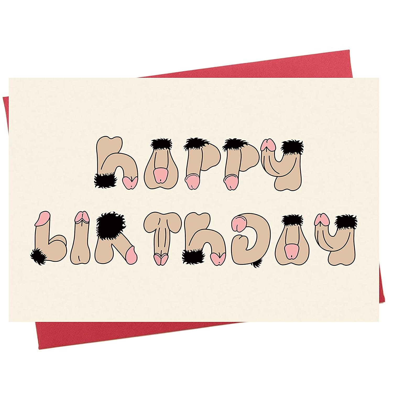 Amazon Rude Birthday Card Funny Birthday Card Unique