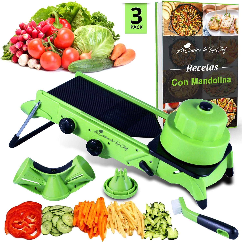 Mandolina de cocina Profesional - Cortador de Verduras en Espiral ...