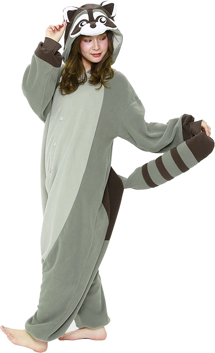 Raccoon Onesie Costume (Adults)