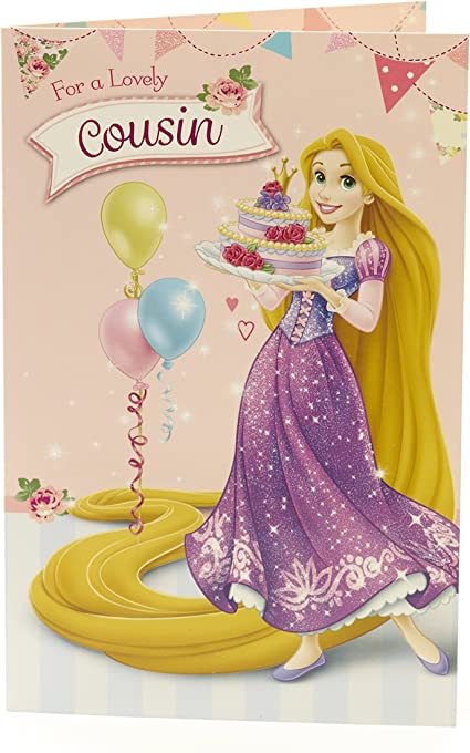 Disney Princess Raiponce Cousin Carte D Anniversaire Pour Elle Amazon Fr Fournitures De Bureau