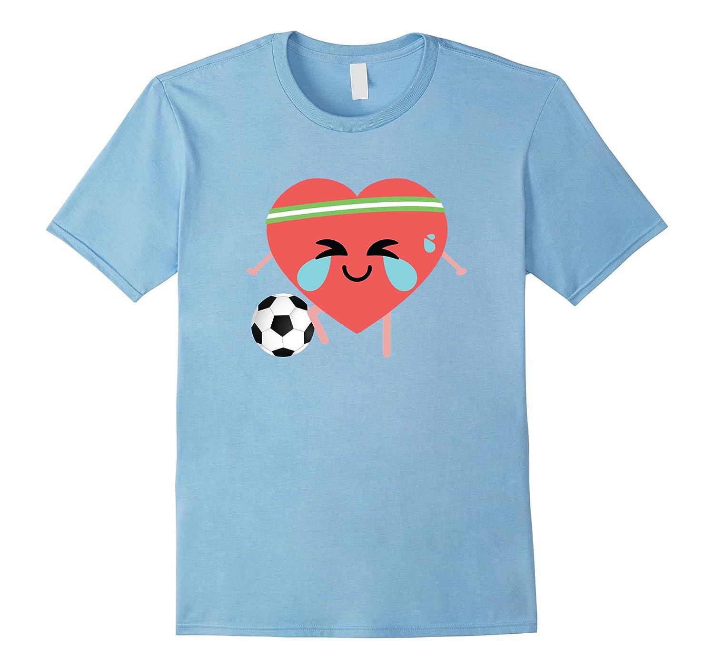 Soccer Heart Crying Emoji Shirt T-Shirt Football Tee