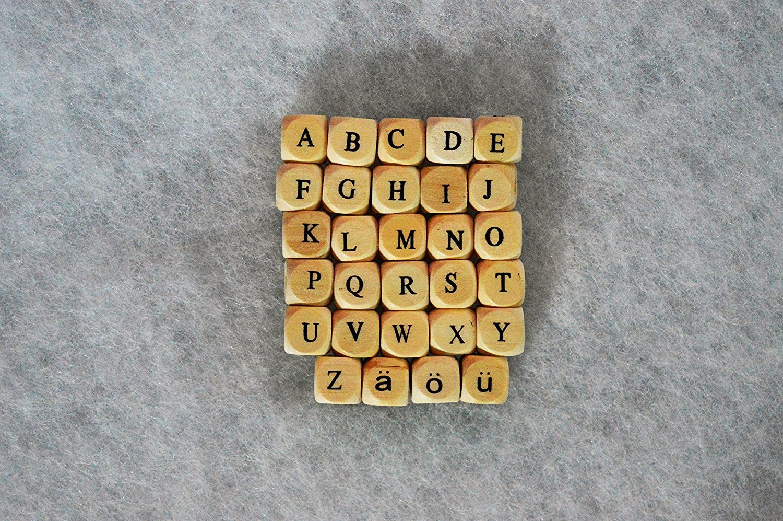 300 impresa letra Cubo madera letras 11 mm, adecuado para ...