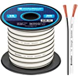 InstallGear 14 Gauge AWG 30ft Speaker Wire Cable - White