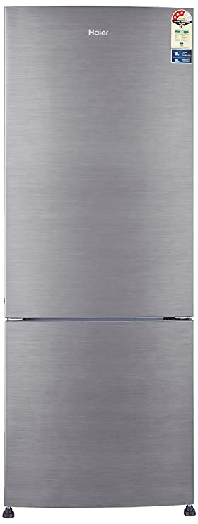 Haier 320 L 3 Star   2019   Frost Free Double Door Refrigerator HRB 3404BS R/HRB 3404BS E, Brushline silver, Bottom Freezer  Refrigerators
