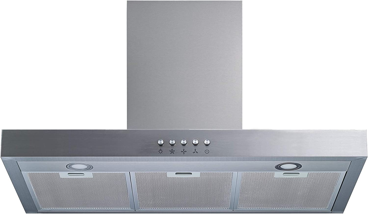 """Winflo 30"""" Wall Mount Stainless Steel Convertible Range Hood with 450 CFM Air Flow, Aluminium Mesh Filters and LED Lights"""