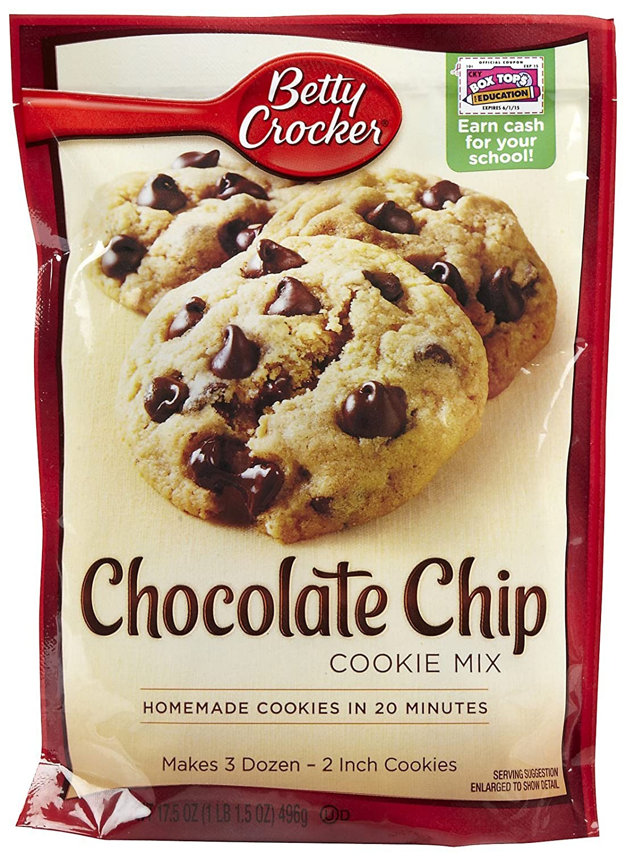 Amazon.com : Betty Crocker Chocolate Chip Cookie Mix - 17.5 oz ...