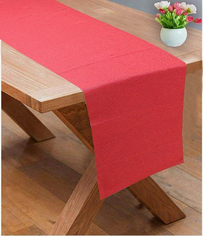 182 x 33 cm Nappe d/écorative en Coton RAJRANG BRINGING RAJASTHAN TO YOU Chemin de Table Rouge