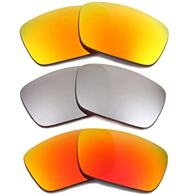 e5f31238541 Image Unavailable. Image not available for. Color  FUEL CELL Replacement  Lenses Polarized Yellow Red Black by SEEK fits OAKLEY