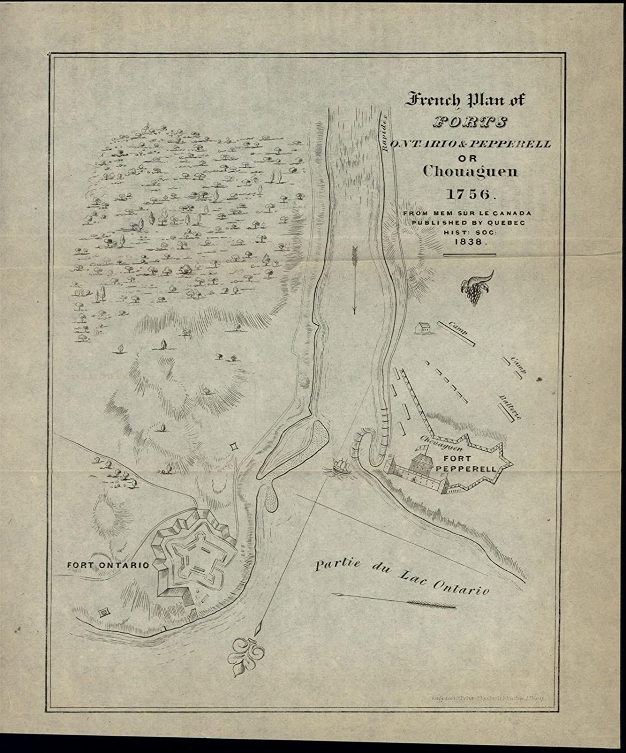 Amazon.com: French Plan Forts Ontario & Pepperell New York Canada ...