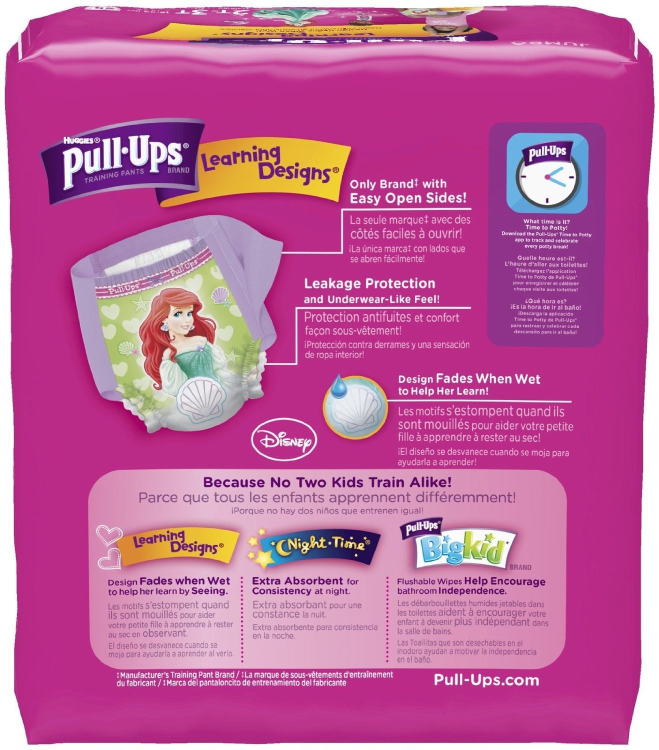 Amazon.com: Huggies Pull-ups Training Pants - Learning Designs - Girls - 2t-3t - 25 Count: Health & Personal Care