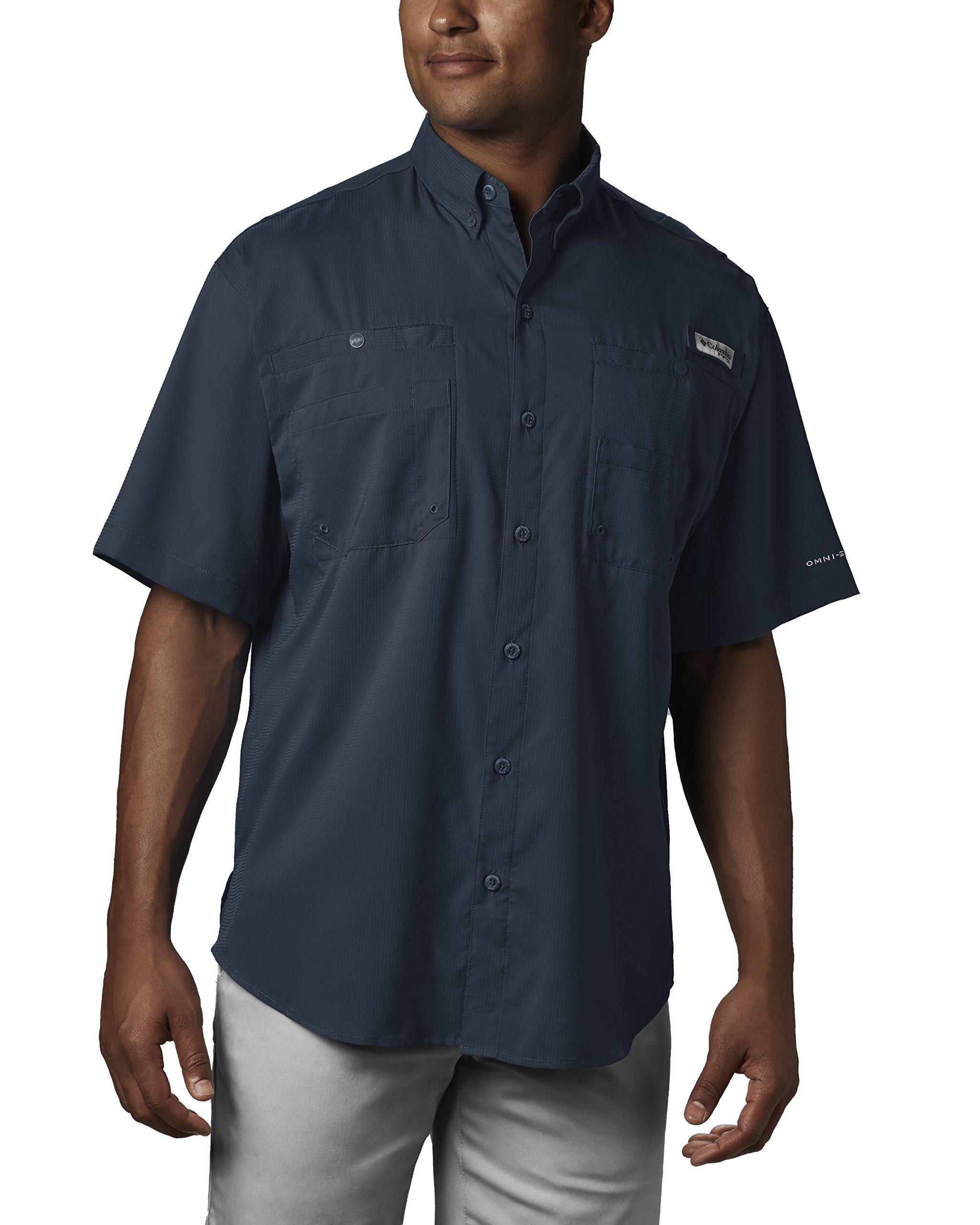 Columbia Men's Tamiami II Short Sleeve Fishing Shirt, Collegiate Navy, X-Small