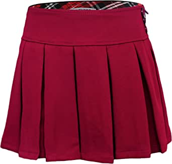 Bienzoe Niña Elástico Plisado Teflon Uniforme Escolar Danza Falda