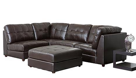 Amazon.com: Abbyson Sonora Top Grain Leather Modular ...