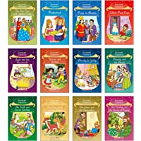 Forever Classics (Set of 12 Books) (Illustrated) - Rapunzel, The Wise Goat and the Wolf, Jack and the Beanstalk, The Elves and the Shoemaker, Little Red Cap, The Wolf and Seven Goslings