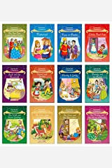 Forever Classics (Set of 12 Fairy Tales with Colourful Pictures) - Story Books for Kids - Rapunzel, The Wise Goat and the Wolf, Jack and the ... Hansel and Gretel, Beauty and the Beast Paperback