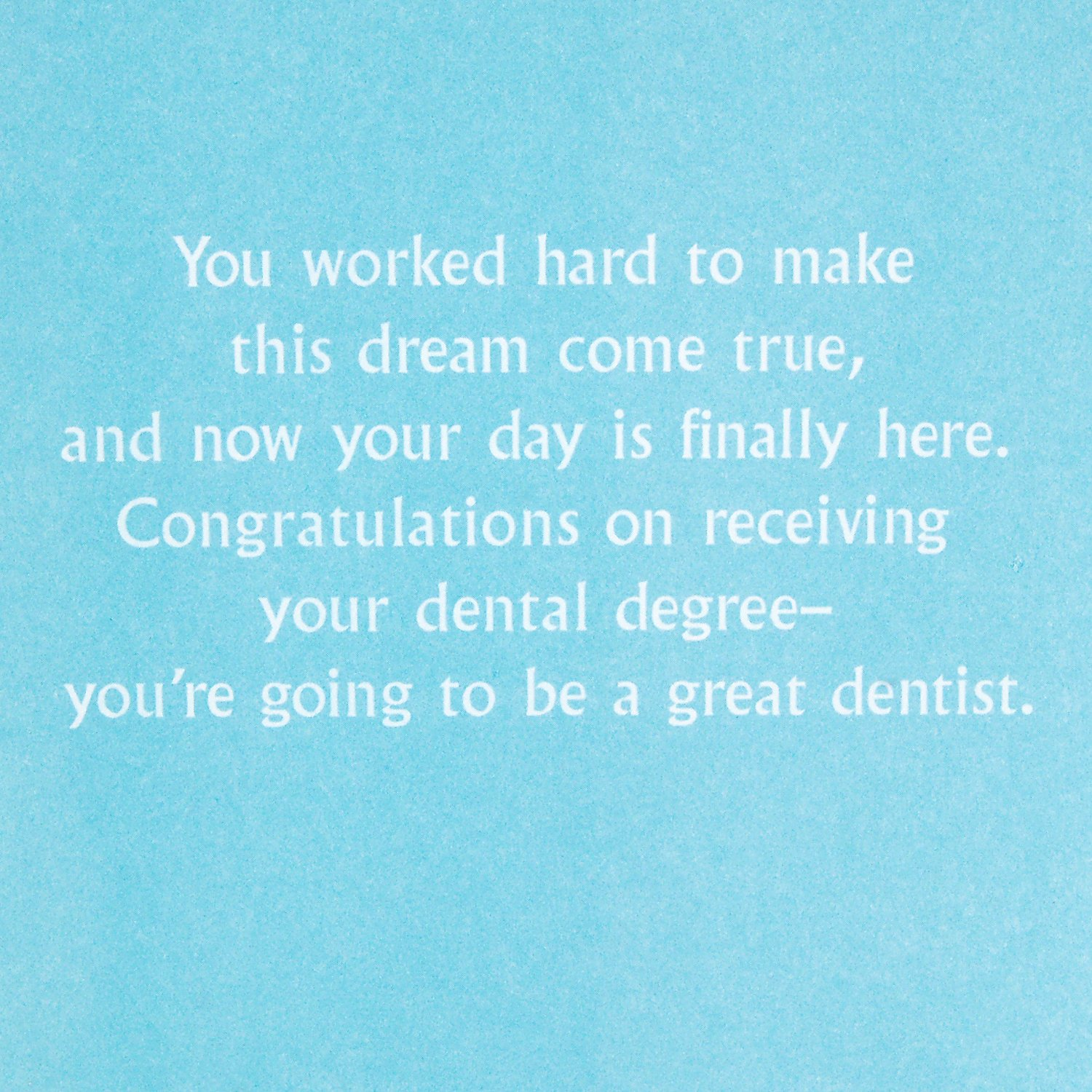 Hallmark Dental School Graduation Card (New Dentist Congratulations)