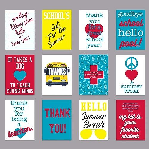 Teacher Greeting Card Teacher Schools Out Card Teacher Appreciation Card Teacher Thank You Card Teacher End of Year Card Teacher Card