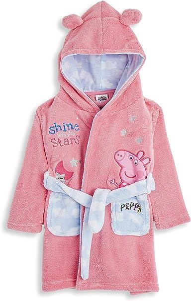 Girls Kids Unicorn Design Dressing Gown Super Soft Fleece Hooded Warm 2 Pockets
