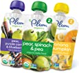 Plum Organics Stage 2, Organic Baby Food, Fruit and Veggie Variety Pack, 4 ounce pouch (Pack of 18)