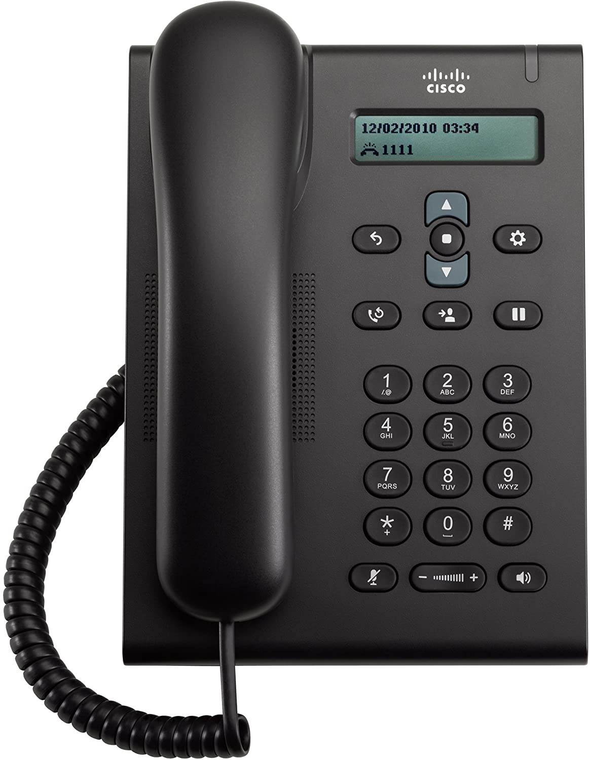 Cisco Unified Sip Phone CP-3905= Unified Sip Phone 3905 (Power Supply Not Included), Black