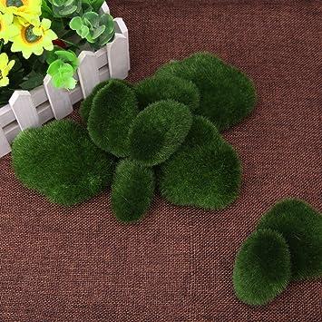 TopSell Artificial Moss Balls Simulation Decorative Stones Garden Interesting Decorative Moss Balls Uk