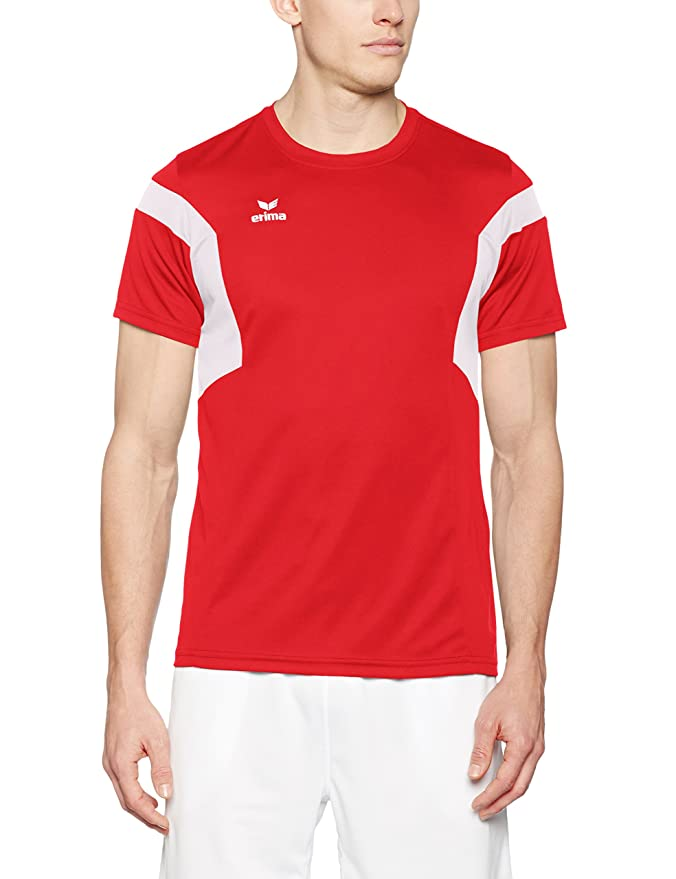 Erima 1116 Classic Team Polo Homme, Noir/Rouge, FR : S (Taille Fabricant : S)