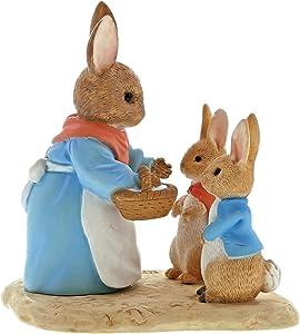 Beatrix Potter A29193 Mrs Rabbit Flopsy & Peter Rabbit Figurine