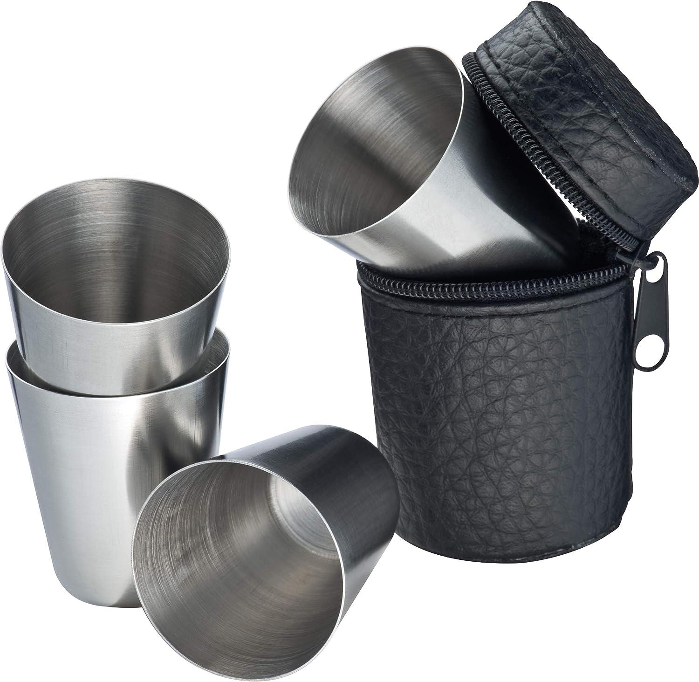Crisma 6574003 4 chupitos de acero inoxidable Metal